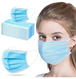Face Masks with Elastic Earloop 50 pcs 3 Ply